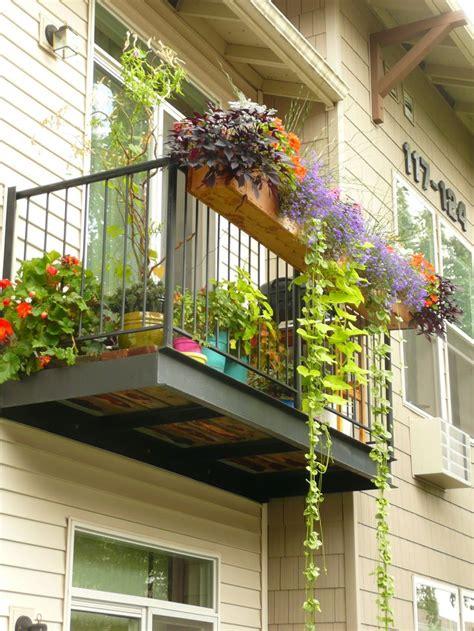balcony patio our apartment patio deck last summer diy 7 cedar planter