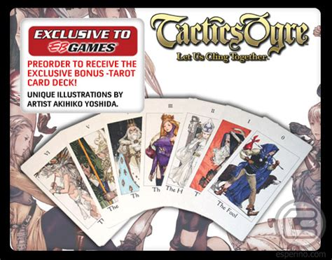 Eb Games Online Gift Card - tactics ogre let us cling together preorder bonus tarot cards