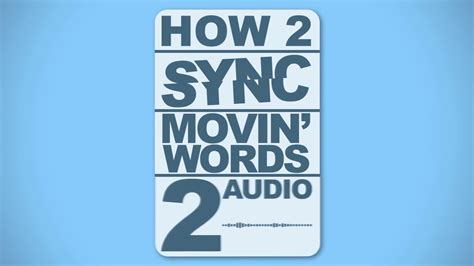 motion 5 typography tutorial how to sync motion typography to audio adobe after effects tutorial
