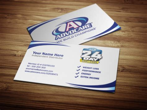 advocare business card template advocare business cards by tankprints on deviantart