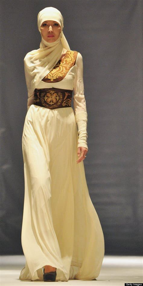 design fashion muslimah love the dress with that hijab style by kyrgyz designer