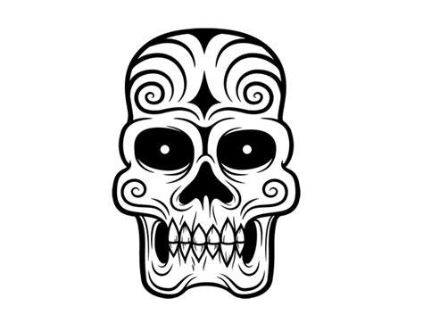 imagenes calaveras aztecas dibujo de calavera azteca para colorear dibujos net