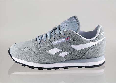 Reebok Gray by Reebok Classic Leather Suede Baseball Grey White