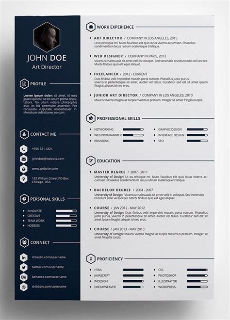 creative curriculum vitae template download free creative resume templates word 25 best cv template