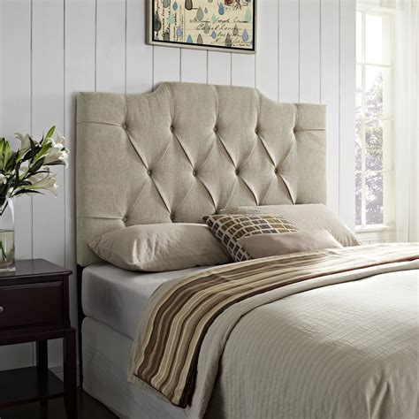 linen headboards samuel lawrence ds 8626 270 panel tufted linen headboard