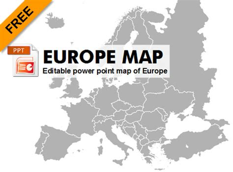Powerpoint Europe Map Europe Continent Map Editable Map Of Free Editable Maps For Powerpoint Presentations