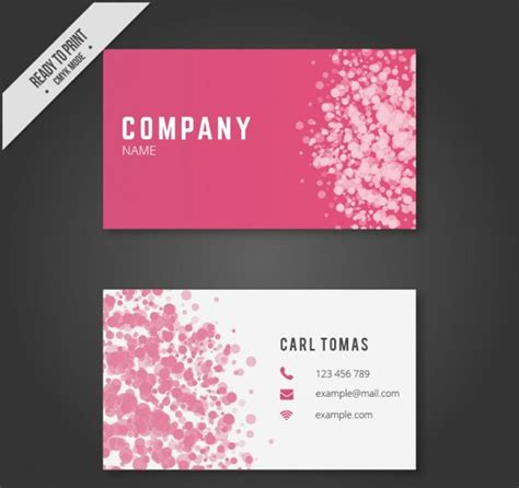 pink business card template 25 free pink business card templates business cards