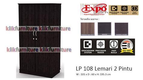 Lemari Pakaian 3 Pintu Expo Lp 2103 Walnut lp 108 expo lemari pakaian 2 pintu diskon promosi agen