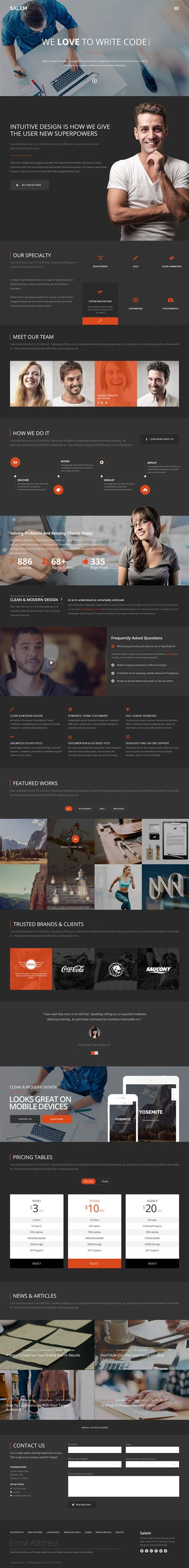 wordpress layout psd salem free wordpress template download psd version