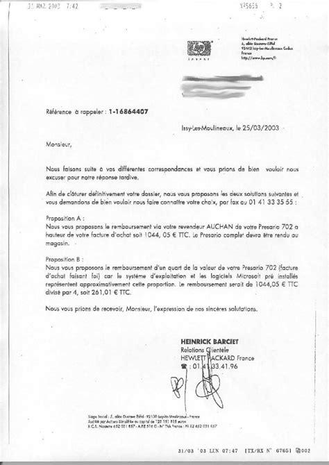 Lettre Refus Vendeur Lettre De Proposition De Prix D