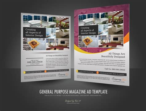 advertising magazine template general purpose magazine ad template 02 psdbucket