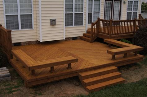 deck with bench deck bench plans deck designs ideas decks pinterest