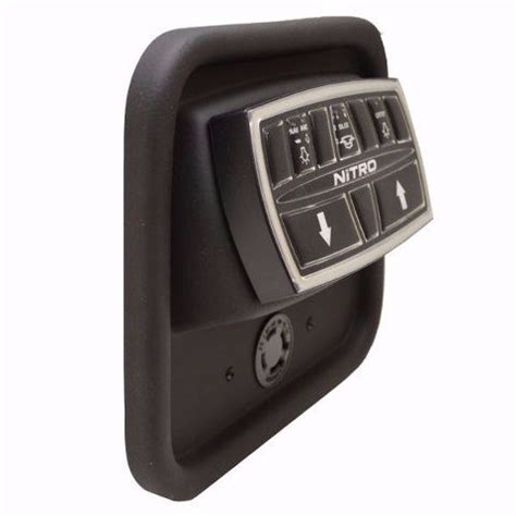 nitro boat switch panel tracker nitro 177978 black plastic boat bilge switch panel