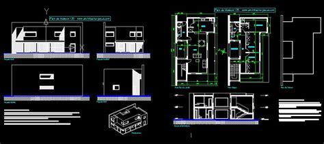 plan maison format dwg gratuit plan maison moderne 125 fichier autocad 2000 dwg maison
