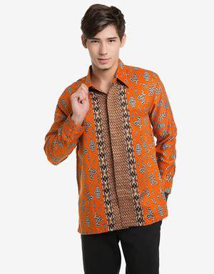 Kemeja Batik Pria Lengan Panjang Semata Wayang Warna Merah Ukuran 145 jual kemeja batik pria mataharimall