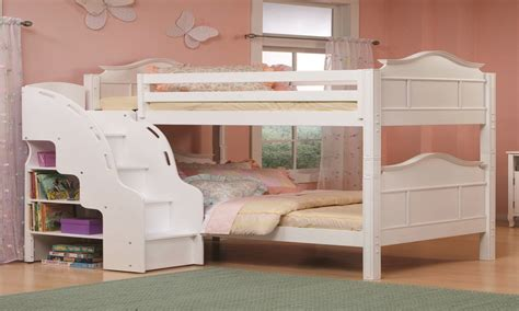 kids bookcase white white bunk beds  stairs  teen