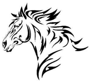 tribal horse head decal window sticker large 9x7 ebay