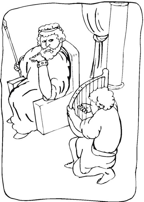 Free Coloring Pages Of David Spares Saul King Saul Coloring Pages
