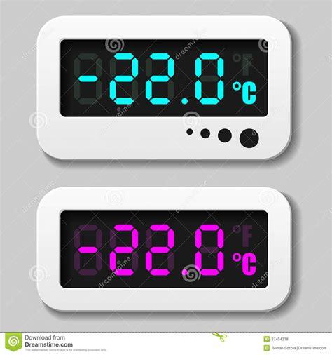 Termometer Digital gl 246 dande symboler f 246 r digital termometer royaltyfria foton