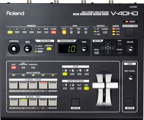 format video hd roland v 40hd 4 channel hdmi multi format video switcher