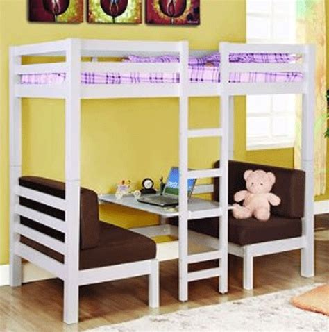 bunk bed and table combo home room