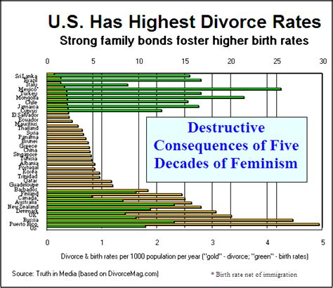 countries with highest divorce rates divorce charts
