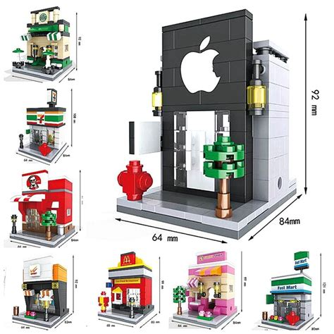 Lego Hsanhe Mini 6407 8 sets new hsanhe mini building blocks toys architecture nanoblocks brinquedos kid