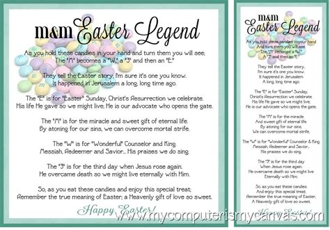the legends of easter treasury inspirational stories of faith and books 5 best images of free printable m m easter poem free