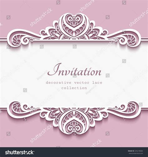 greeting card borders templates cutout paper frame lace border stock vector
