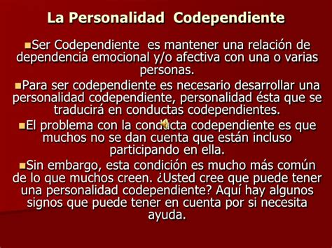 librate de la codependencia la personalidad codependiente