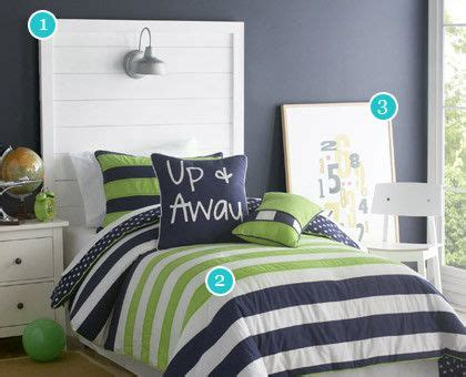 Blue And Green Boys Bedroom by Boys Room Lime Green Sheets Blue Stripe Navy And Green 1