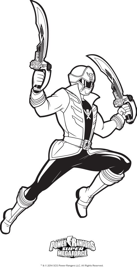 power rangers megaforce coloring pages printable power ranger megaforce weapons coloring rangers page super