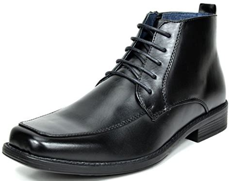 mens square toe dress boots bruno marc s york 1 leather lined dress ankle boots