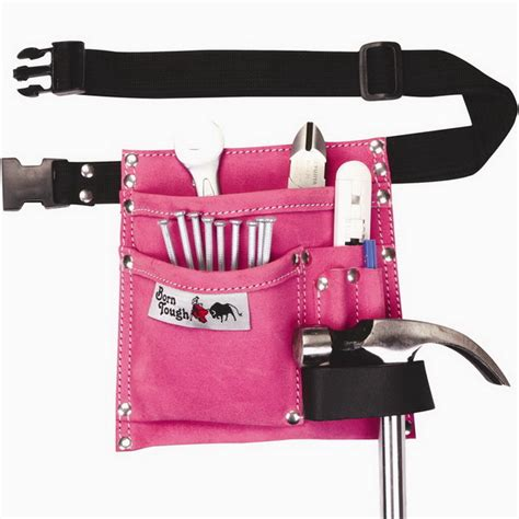 bourn tough lp 34 5 pocket suede leather pink tool belt pouch