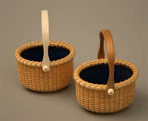 Small Decorative Table Nantucket Basket Salt Cellars By Bill And Judy Sayle