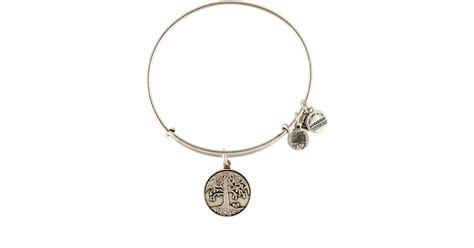 alex and ani tree of bangle in silver lyst