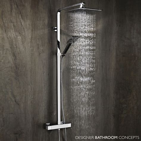 plaza designer thermostatic rainfall shower system