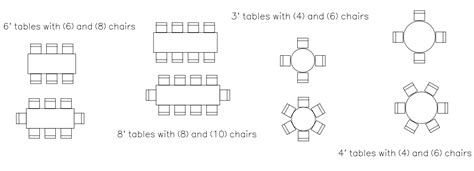 Lay Out Chairs by Table Selection And Seating Guide Partytime Rentals