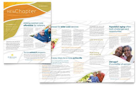 assisted living newsletter template word publisher
