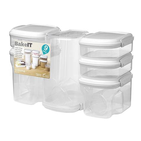 baking storage sistema bake it food storage for baking containers set of 9