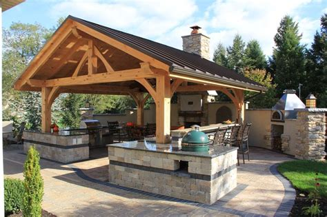 outdoor pergolas covered outdoor kitchen weatherproof entertaining space complete with an outdoor kitchen