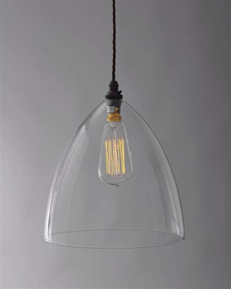 Glass Pendant Lights Uk Ledbury Clear Glass Pendant Light Fritz Fryer