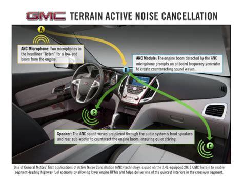 honda s active noise cancellation anc gmc terrain uses active noise cancellation to improve gas mileage torque news