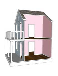 Doll house plans for american girl or 18 inch dolls 4 room side play
