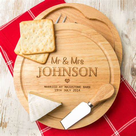 Best Kitchen Knive by Personalised Wedding Cheese Board And Knife Set By Dust
