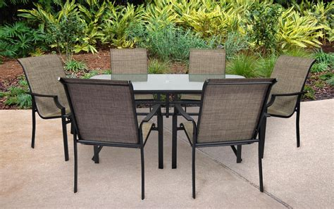 7 Pc Patio Dining Set Ss 355 2set Fairfield 7 Pc Patio Dining Set Sears Outlet