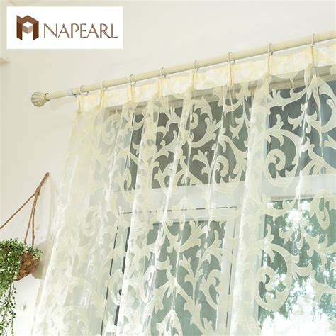 sheer curtain panels with designs european style leave design modern curtain sheer panel