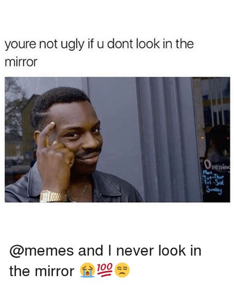 Looking In The Mirror Meme - 25 best memes about looking in the mirror looking in