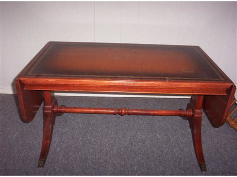Antique Leather Top Coffee Table Antique Leather Top Coffee Table Gatineau Sector Ottawa