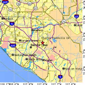 tustin california map tustin foothills california ca population data races